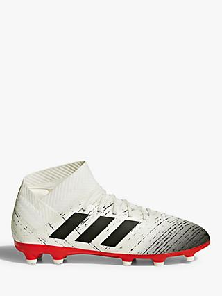 adidas Children's Nemeziz 18.3 FG J Football Boots, White