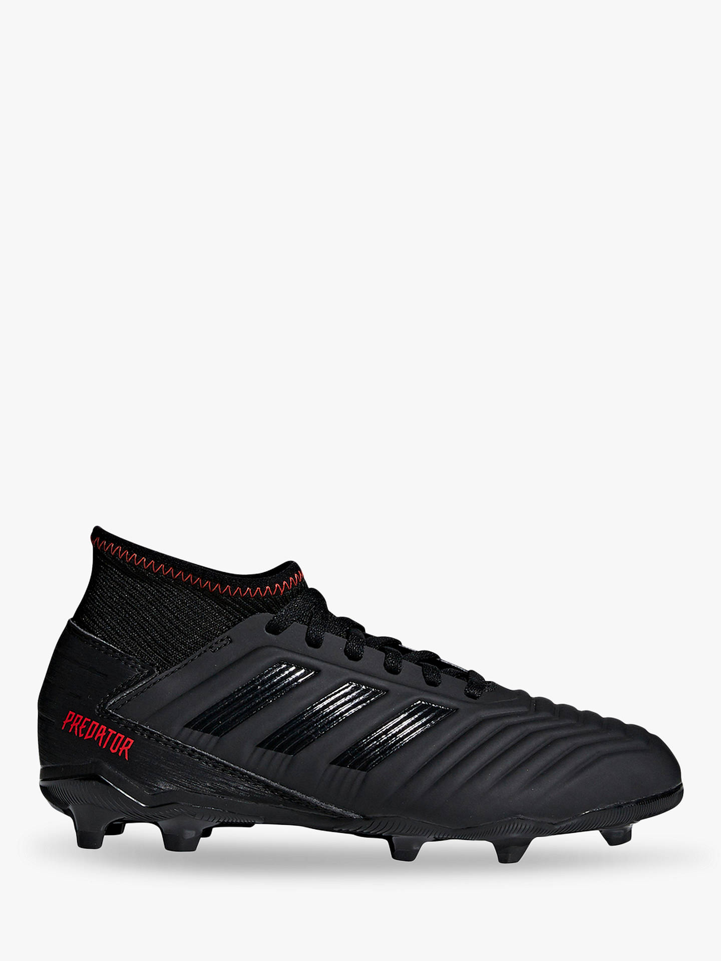 bda812a8422 adidas Children's Predator 19.3 Firm Ground Football Boots, Core  Black/Active Red