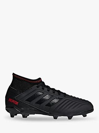adidas Children's Predator 19.3 FG J Football Boots, Black