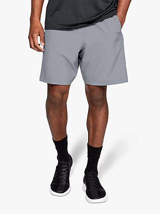 "Under Armour 8"" Woven Graphic Training Shorts, Steel/Black"