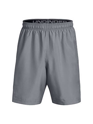 "Buy Under Armour 8"" Woven Graphic Training Shorts, Steel/Black, S Online at johnlewis.com"