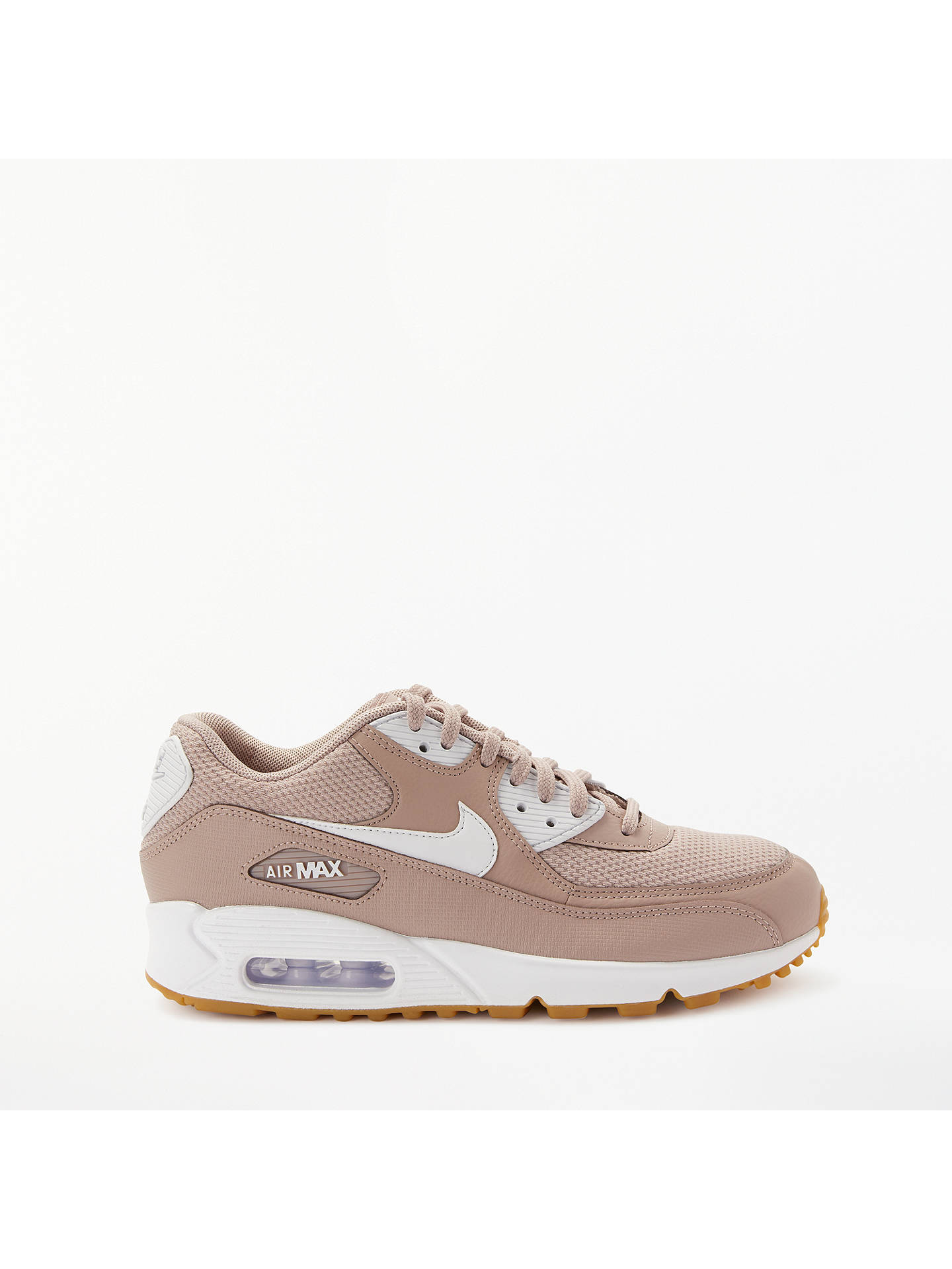 db33c98e4489d Buy Nike Air Max 90 Women's Trainers, Taupe/White, 4 Online at johnlewis ...