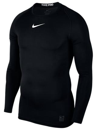 hot sale online 2b205 50911 ... get nike pro long sleeve training top black white fd7bf 3fb4d