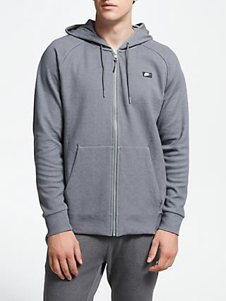 Nike Sportswear Optic Full Zip Hoodie, Dark Grey/Heather