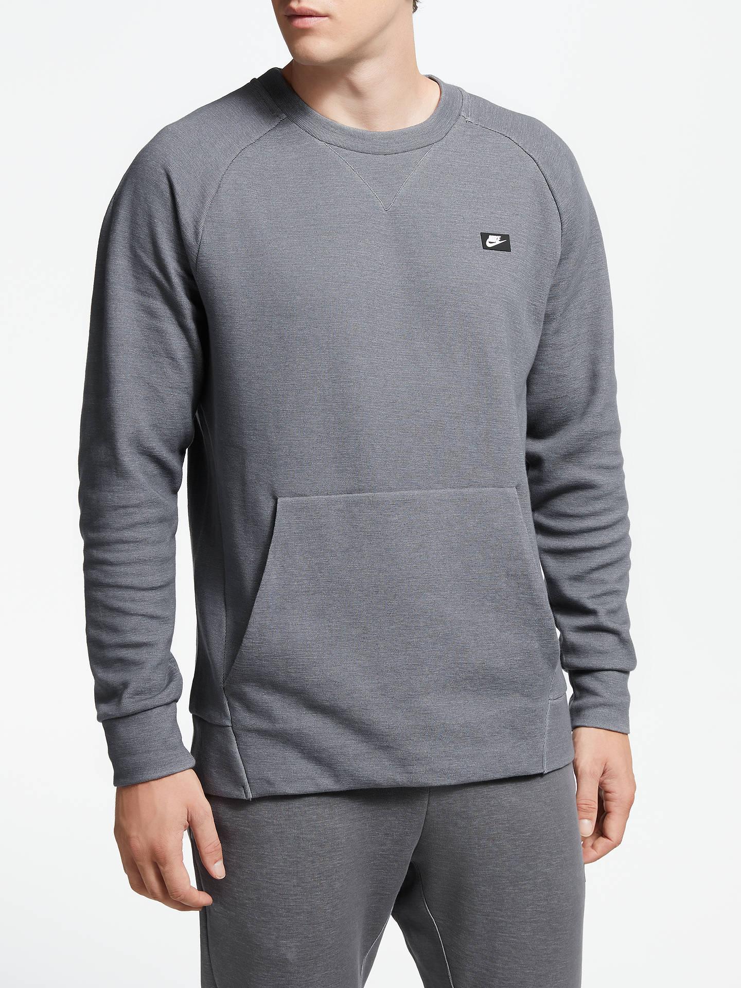 c4da3bbf2 Buy Nike Sportswear Optic Crew Neck Sweatshirt, Dark Grey/Heather, M Online  at ...