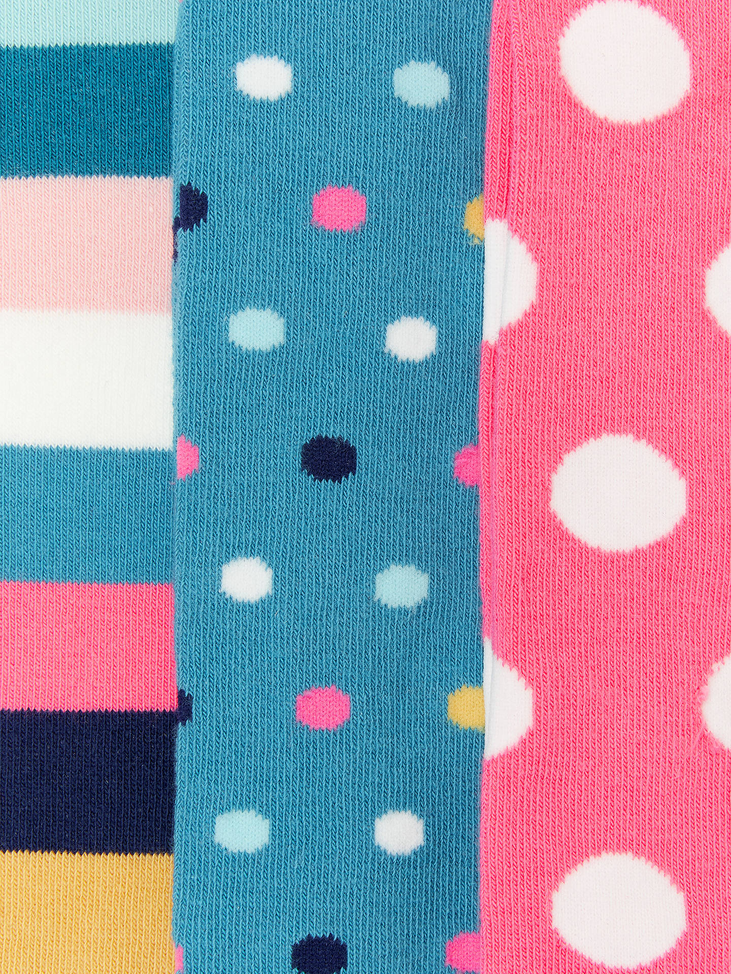 BuyJohn Lewis & Partners Girls' Bold Spot Stripe Tights, Pack of 3, Multi, 2-3 years Online at johnlewis.com
