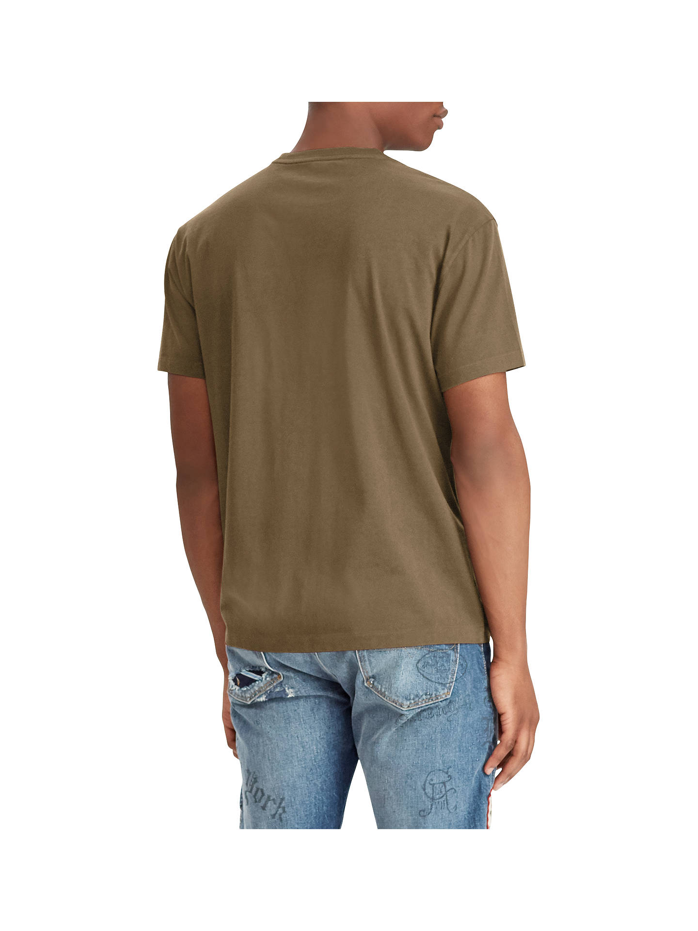 BuyPolo Ralph Lauren Crew Neck T-Shirt, Expedition Olive, S Online at johnlewis.com