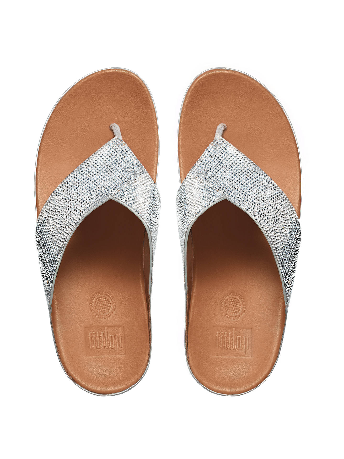 BuyFitFlop Crystall Toe Post Sandals, Silver, 4 Online at johnlewis.com