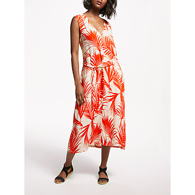 Just Female Julita Sleeveless Tropical Dress, Red