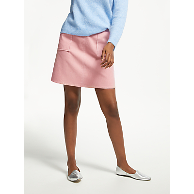Great Plains Cotton Chunky Cord Mini Skirt, Cinder Pink