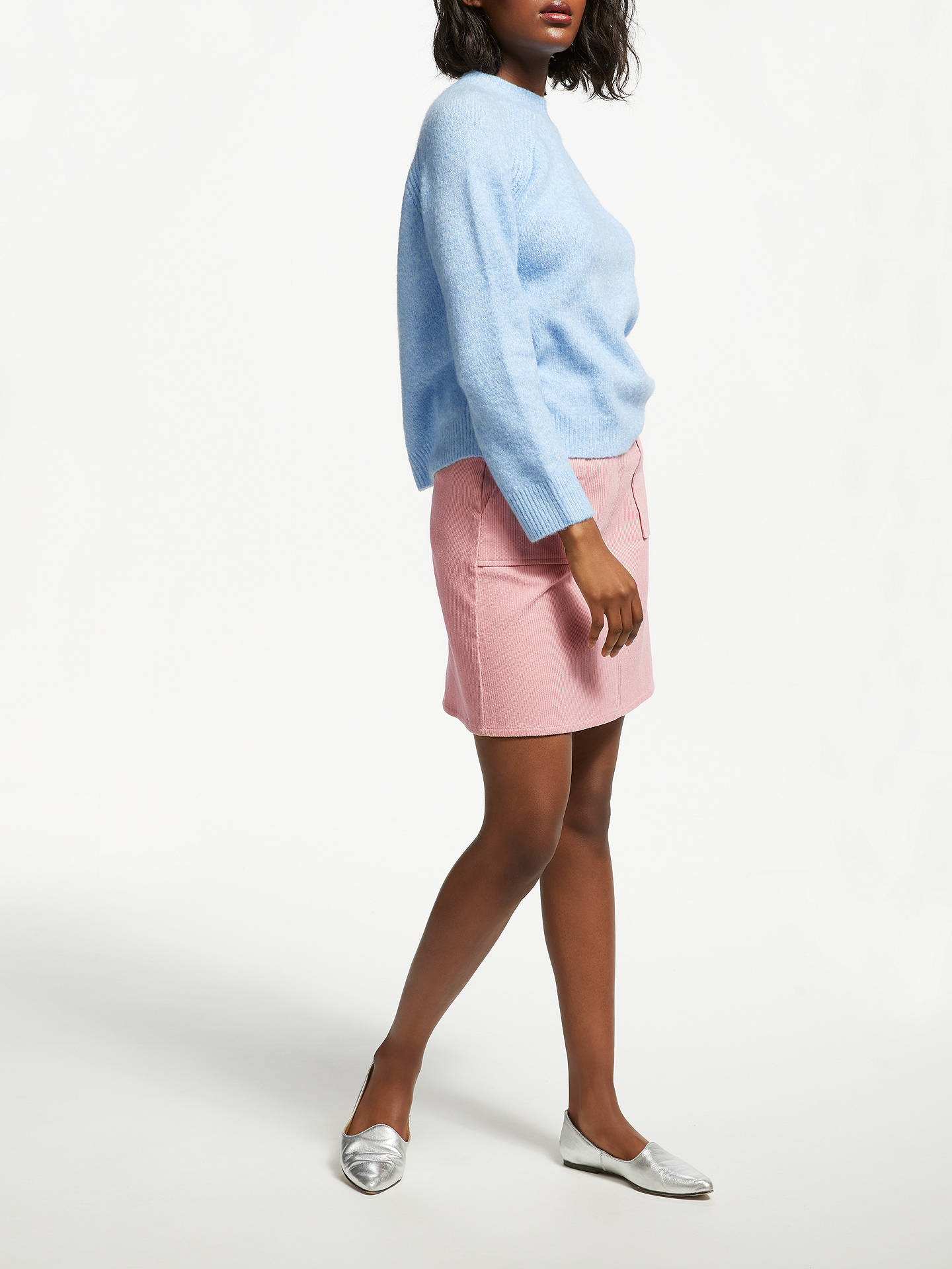 e8c2fde472 ... Buy Great Plains Cotton Chunky Cord Mini Skirt, Cinder Pink, 10 Online  at johnlewis ...
