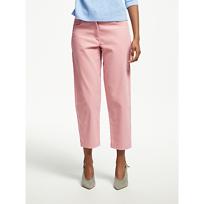 Great Plains Cotton Chunky Cord Trousers, Cinder Pink