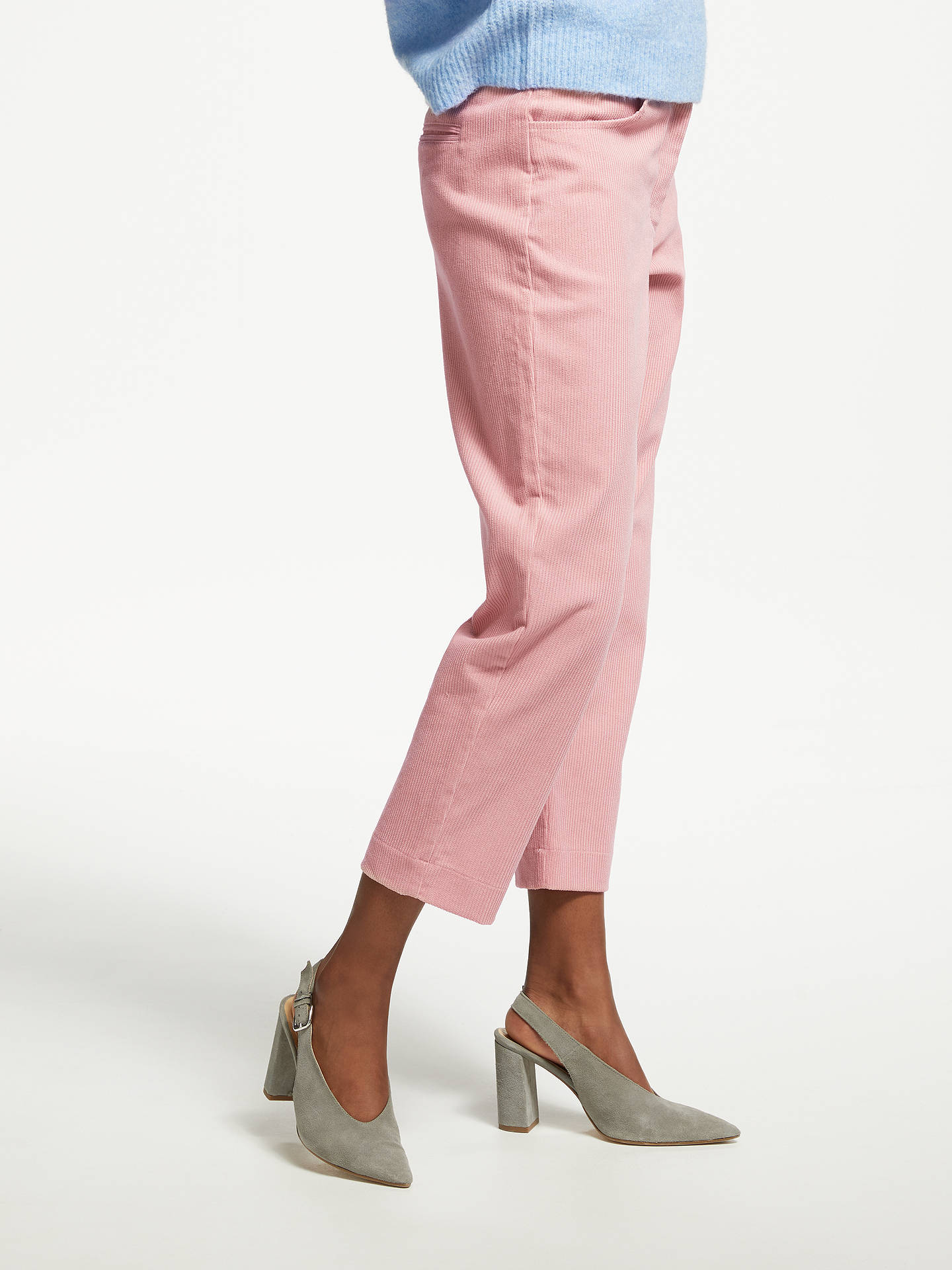 BuyGreat Plains Cotton Chunky Cord Trousers, Cinder Pink, 8 Online at johnlewis.com