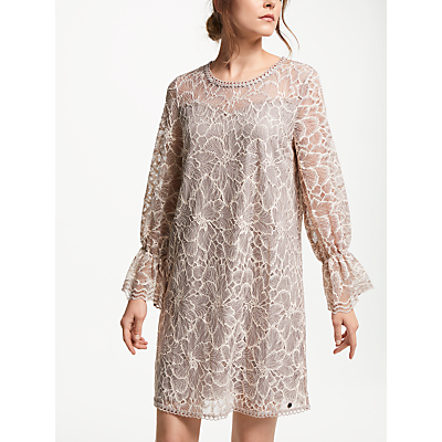 Numph Devika Embroidered Shift Dress, Rugby Tan
