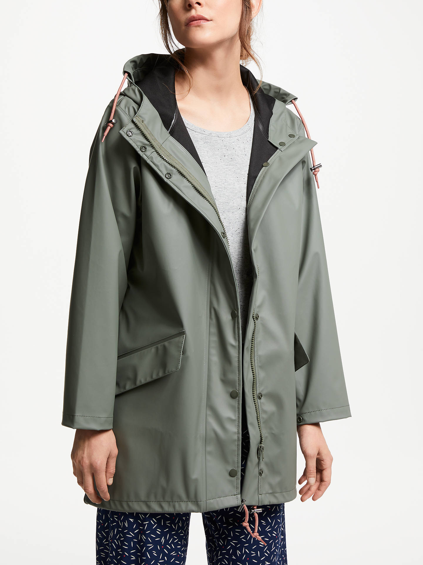 10b623024 Numph Desi Parka Jacket, Agave Green at John Lewis & Partners