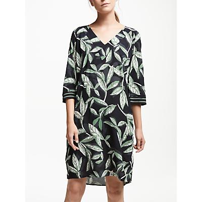 Numph Felicia Leaf Print Dress, Caviar