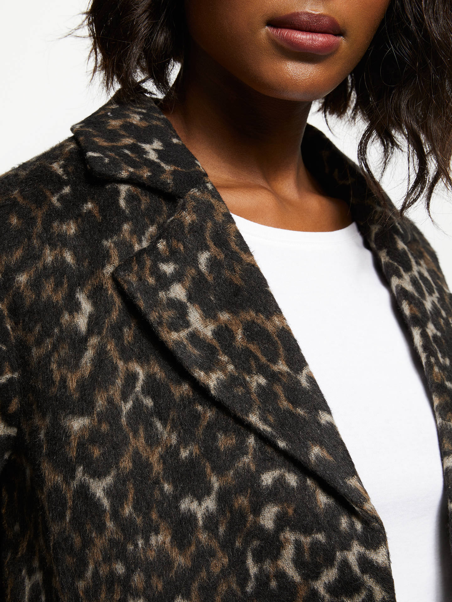 Buy Second Female Hayley Animal Print Coat, Animal, S Online at johnlewis.com