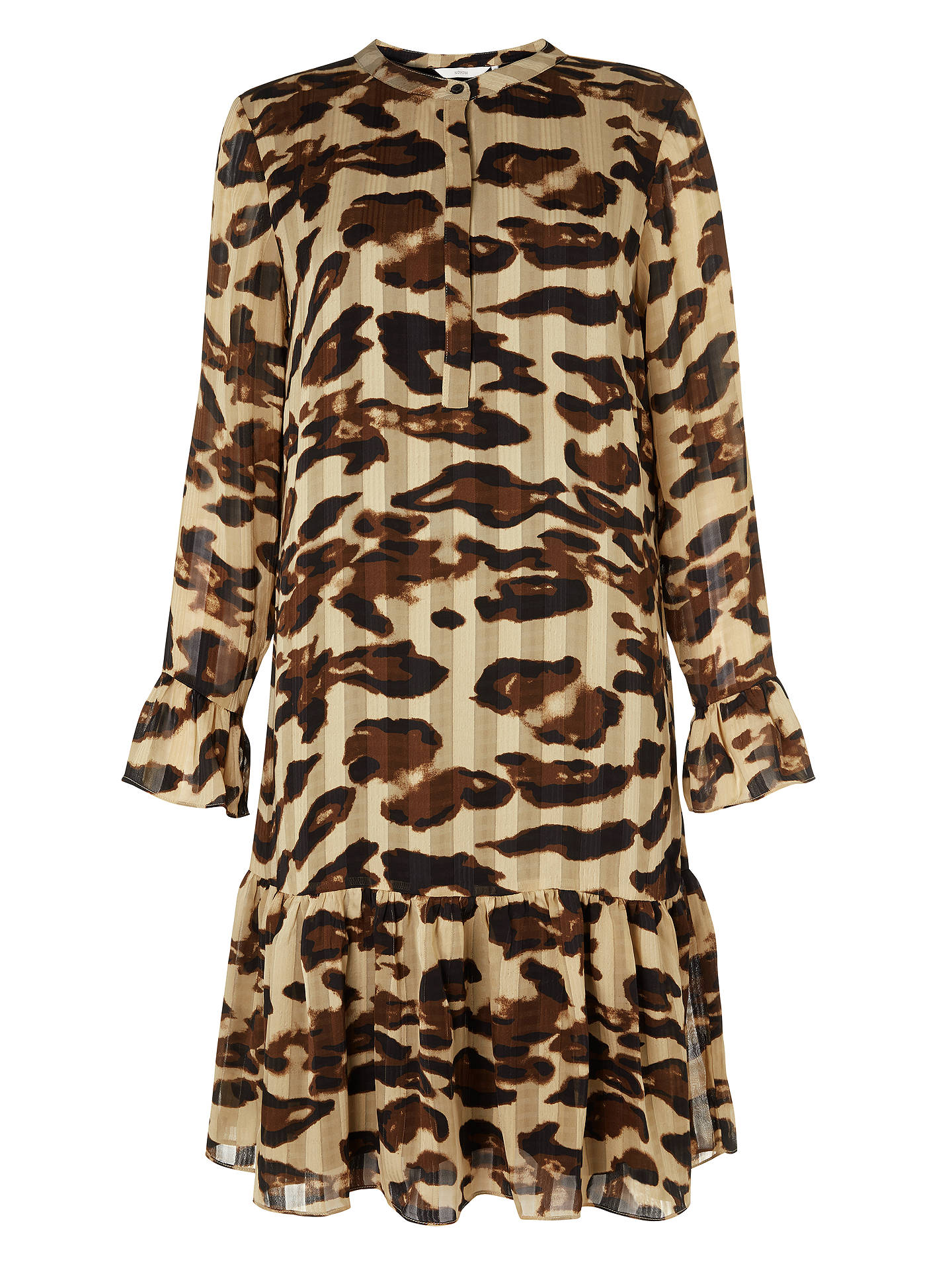 John Dropped Frostine Sand At Print Waist Leopard Numph Dress Warm z6qnTSxw