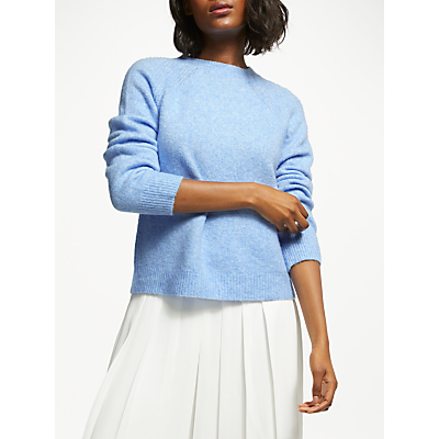 Great Plains Crew Neck Knit Jumper, Blue Chambray