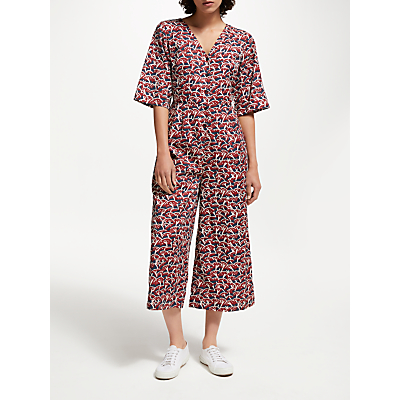 People Tree V&A Cherry Orchard Jumpsuit, Multi