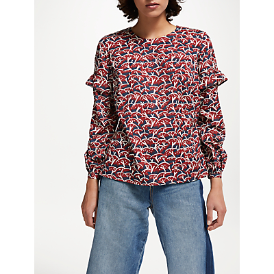 People Tree V&A Cherry Orchard Blouse, Multi