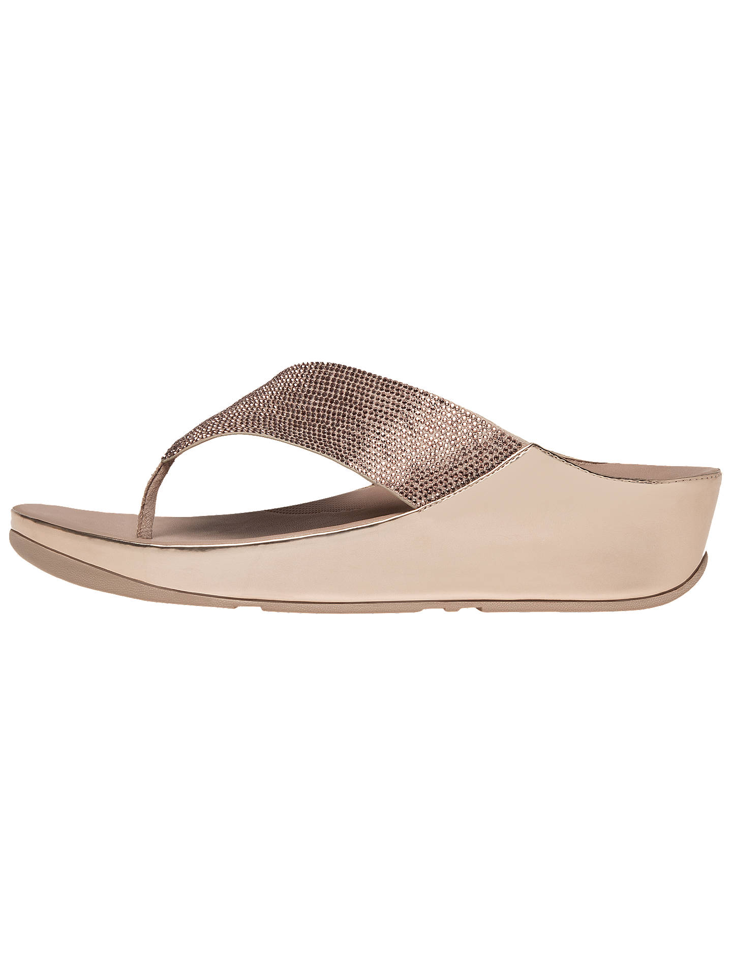 0efe29751d7b6 FitFlop Crystall Toe Post Sandals at John Lewis   Partners