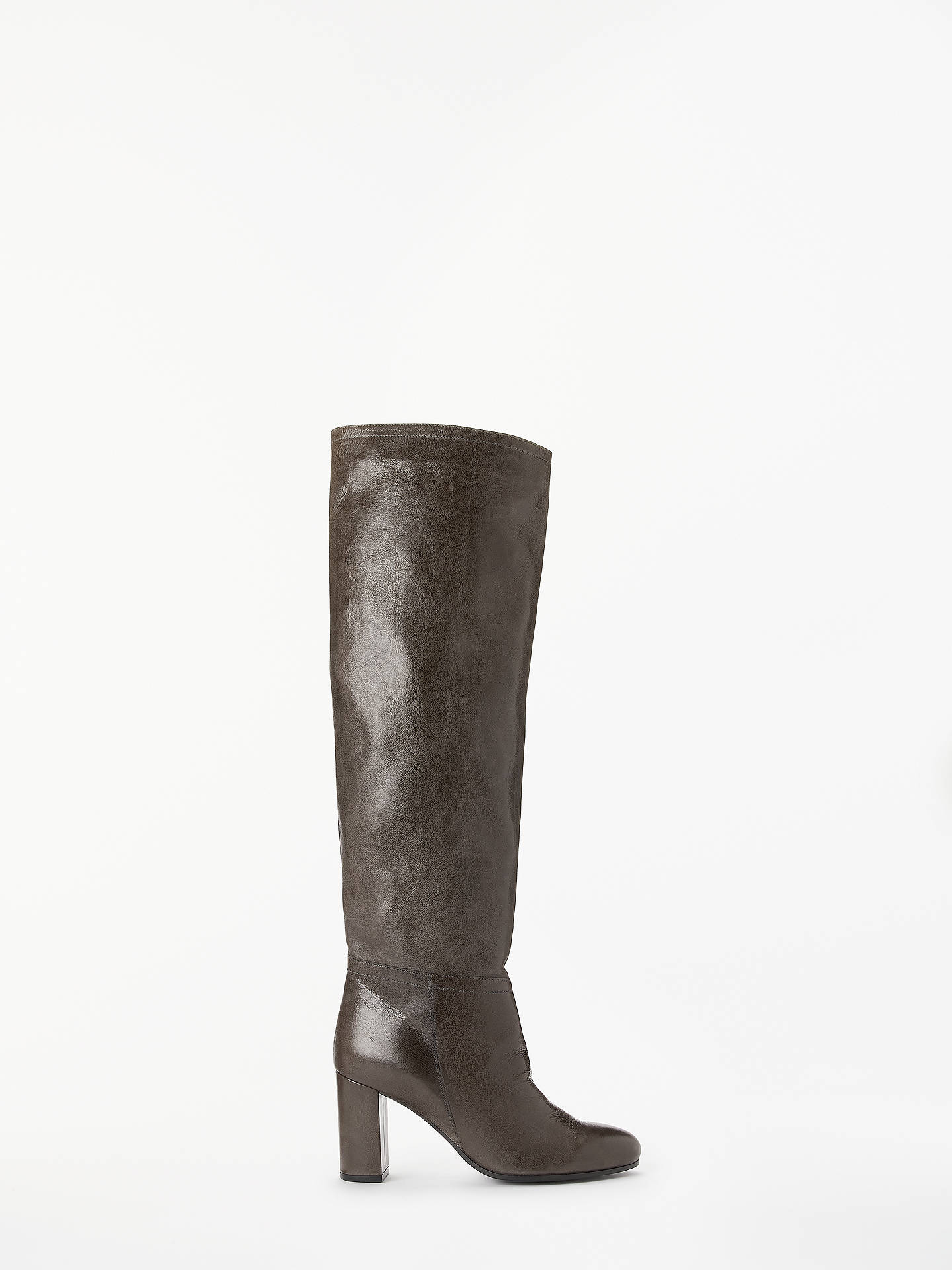 84949523d558 Buy Modern Rarity Surie Slouch Knee High Boots, Grey Leather, 5 Online at  johnlewis ...