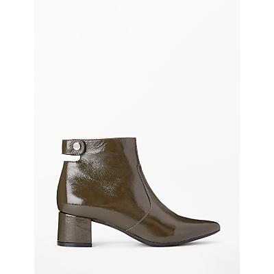 Kin Olavia Patent Leather Boots, Green