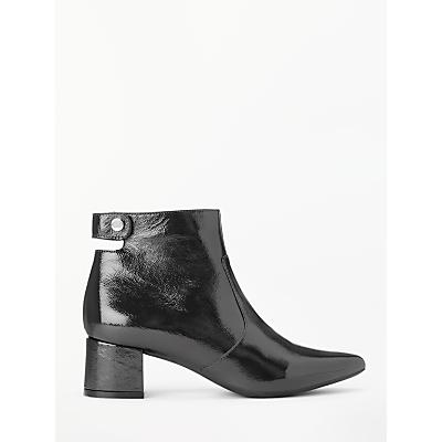 Kin Olavia Patent Leather Boots, Black