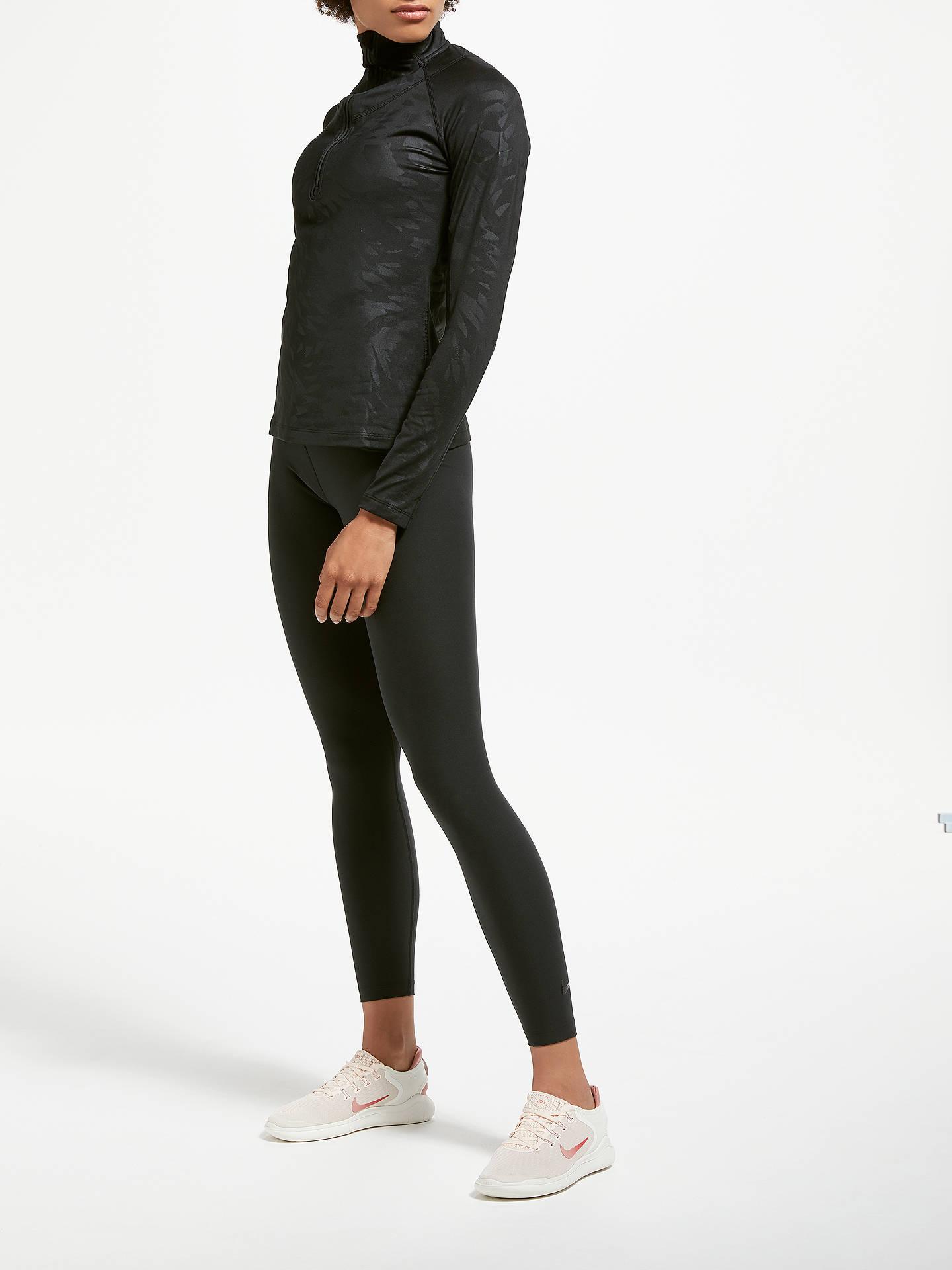 b71ee480b1739 ... Buy Nike Pro Warm Embossed Training Top, Black, XS Online at  johnlewis.com ...