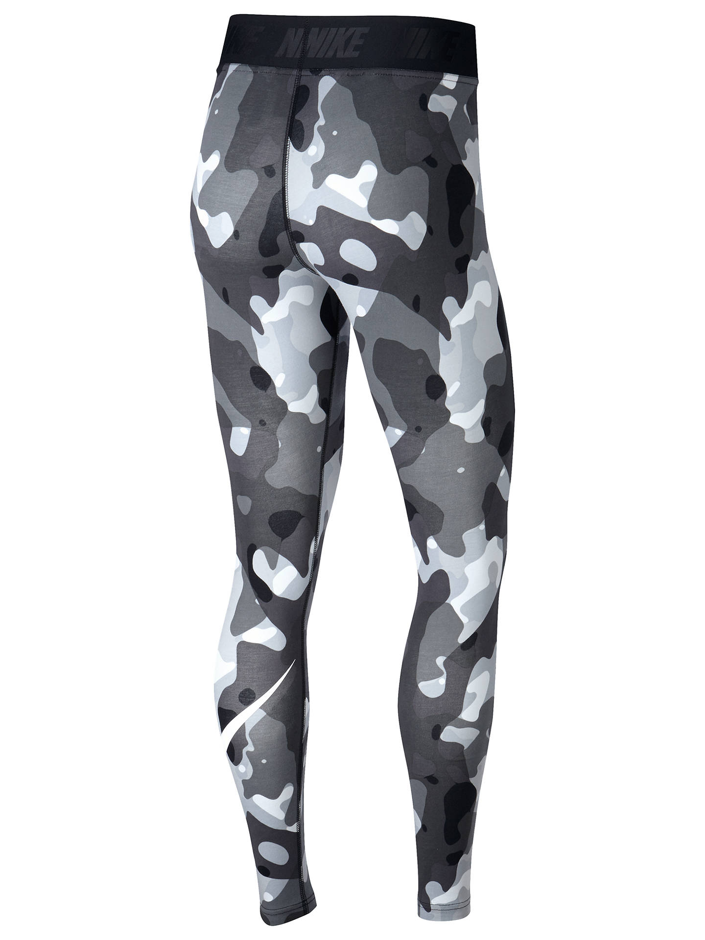 e034298b42bc2 ... Buy Nike Sportswear Swoosh Camo Training Tights, Black/White, XS Online  at johnlewis