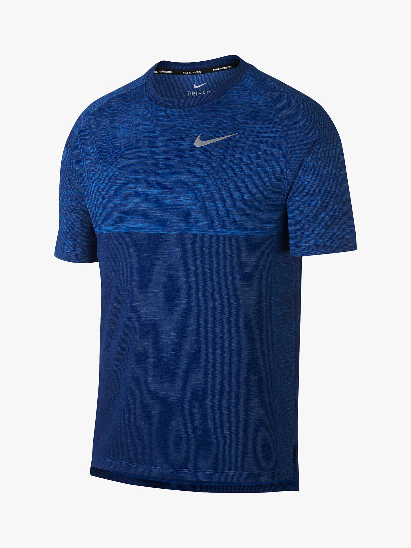f912aad0 Buy Nike Dry-FIT Medallist Running Top, Signal Blue, L Online at johnlewis  ...