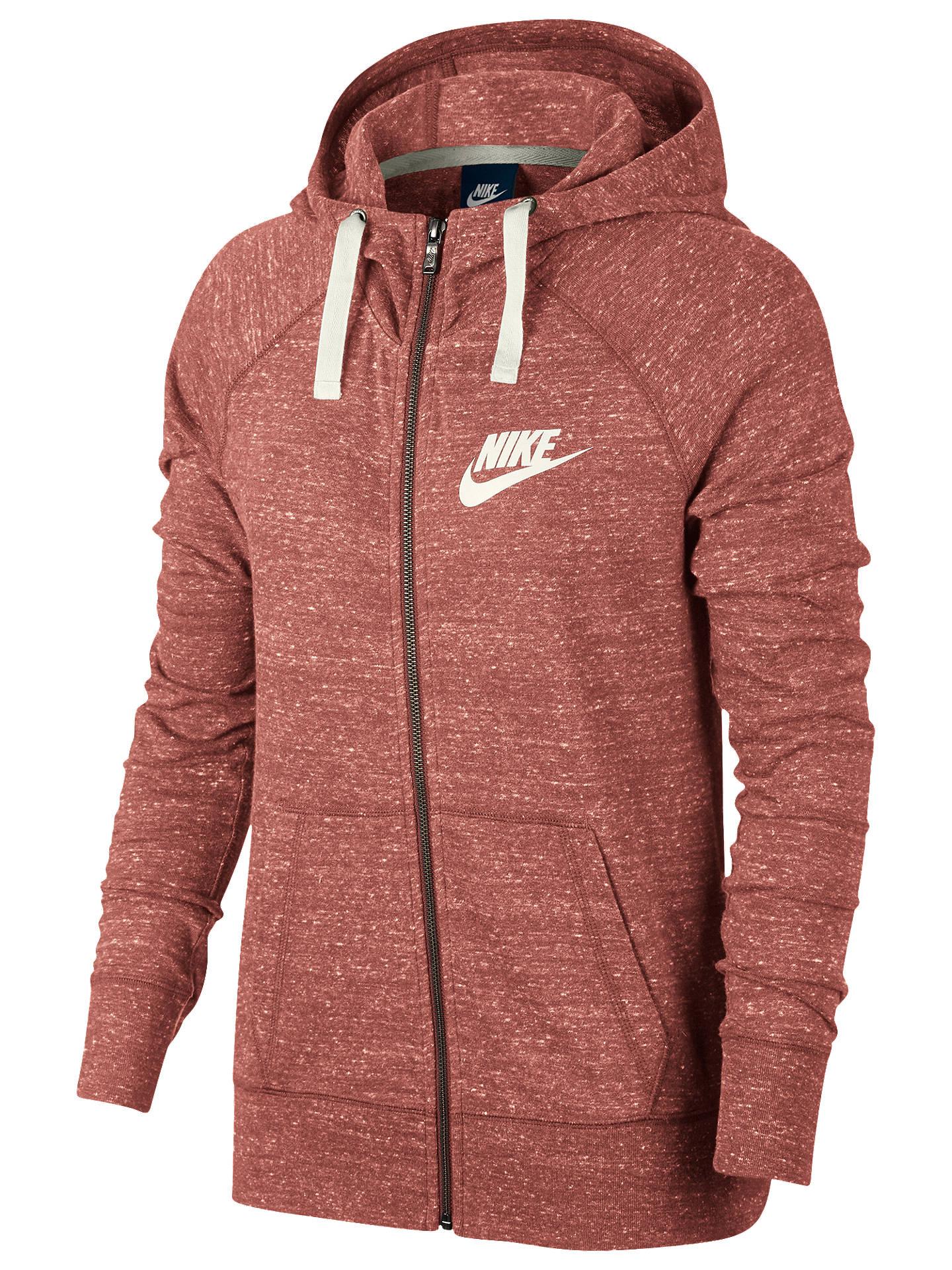 875e02ffc93cf Buy Nike Sportswear Vintage Hoodie, Rust Pink/Sail, XS Online at johnlewis.