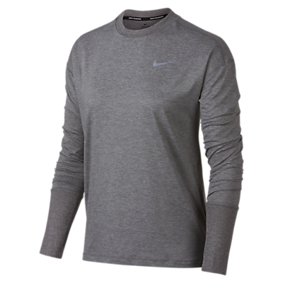 Nike Element Crew Running Top, Gunsmoke/Atmosphere Grey