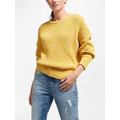 Maison Scotch Chunky Knit Jumper, Cheddar Melange