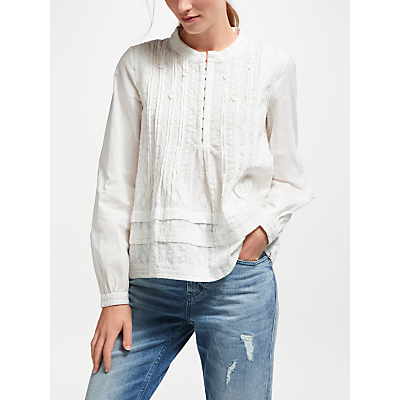 Maison Scotch Embroidered Blouse, White