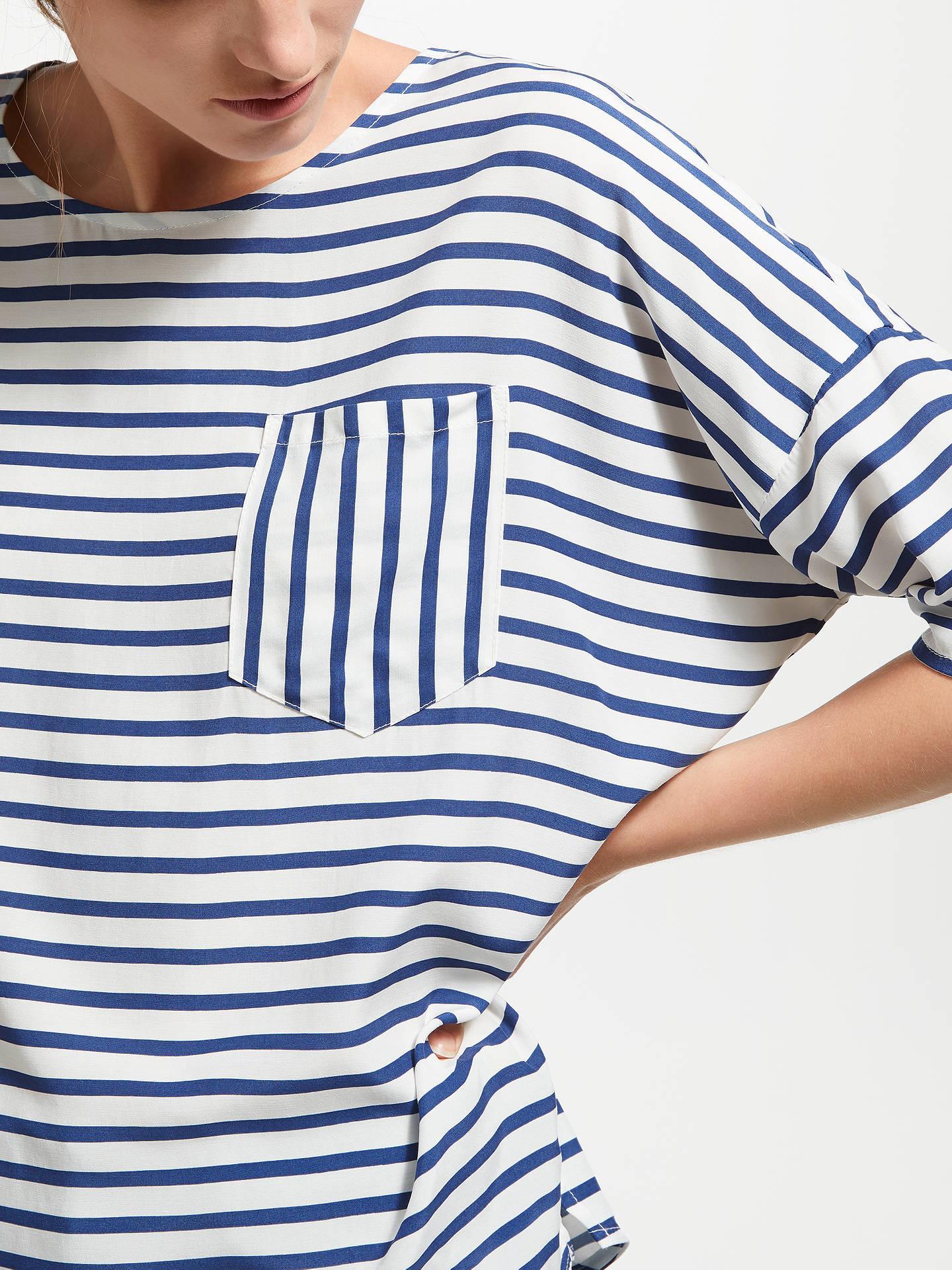 0e38b11a9a9a8 ... Buy Maison Scotch Breton Stripe T-Shirt, Blue/White, XS Online at ...
