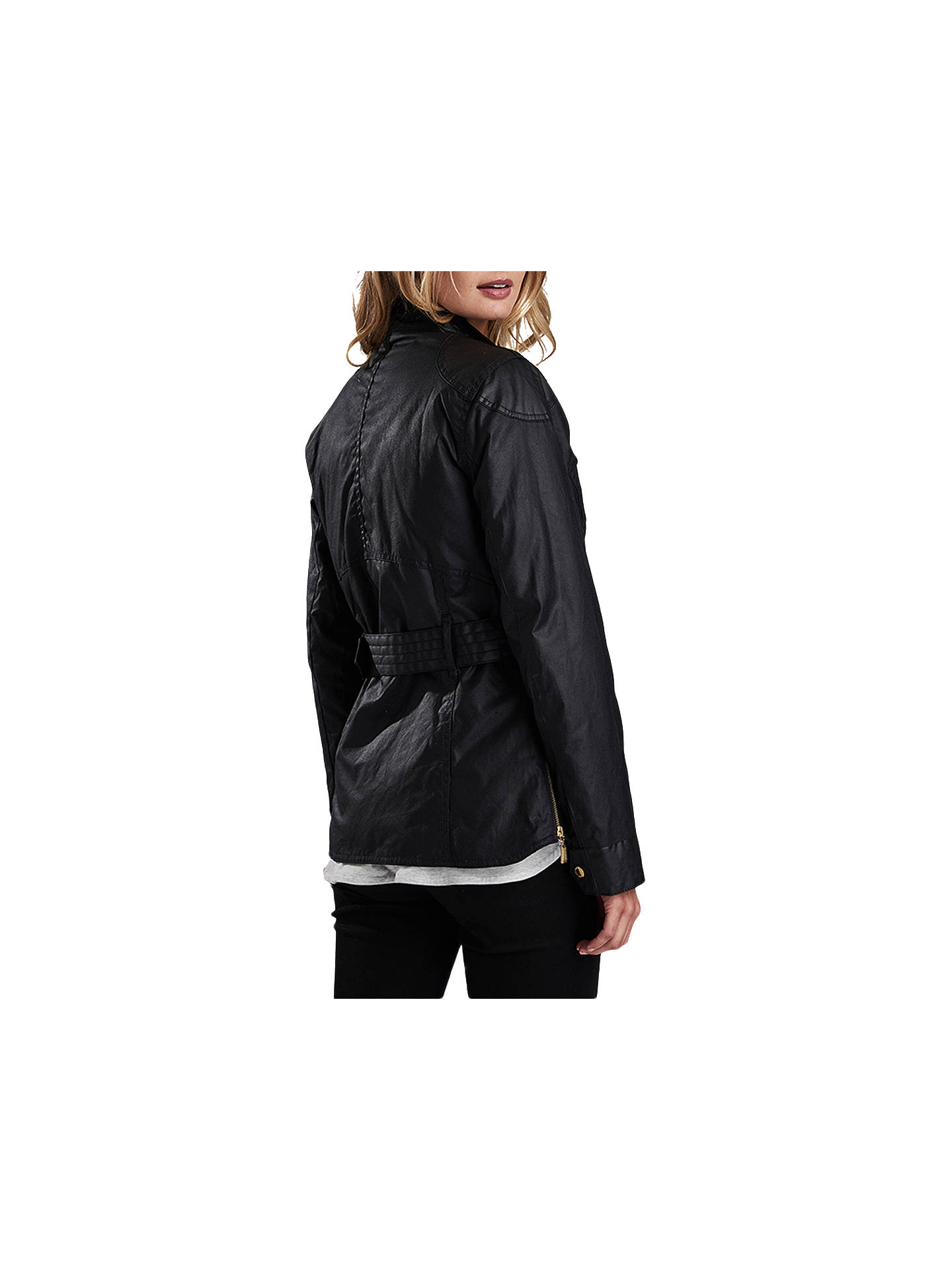 BuyBarbour International Hubcap Waxed Jacket, Black, 8 Online at johnlewis.com