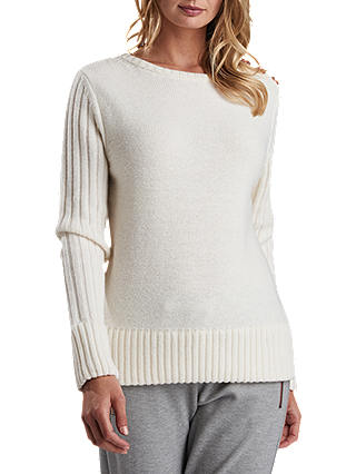 Buy Barbour International Losail Jumper, Off White, 8 Online at johnlewis.com