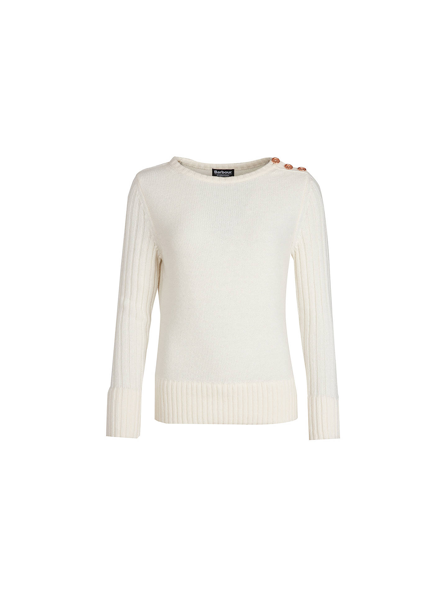 BuyBarbour International Losail Jumper, Off White, 8 Online at johnlewis.com