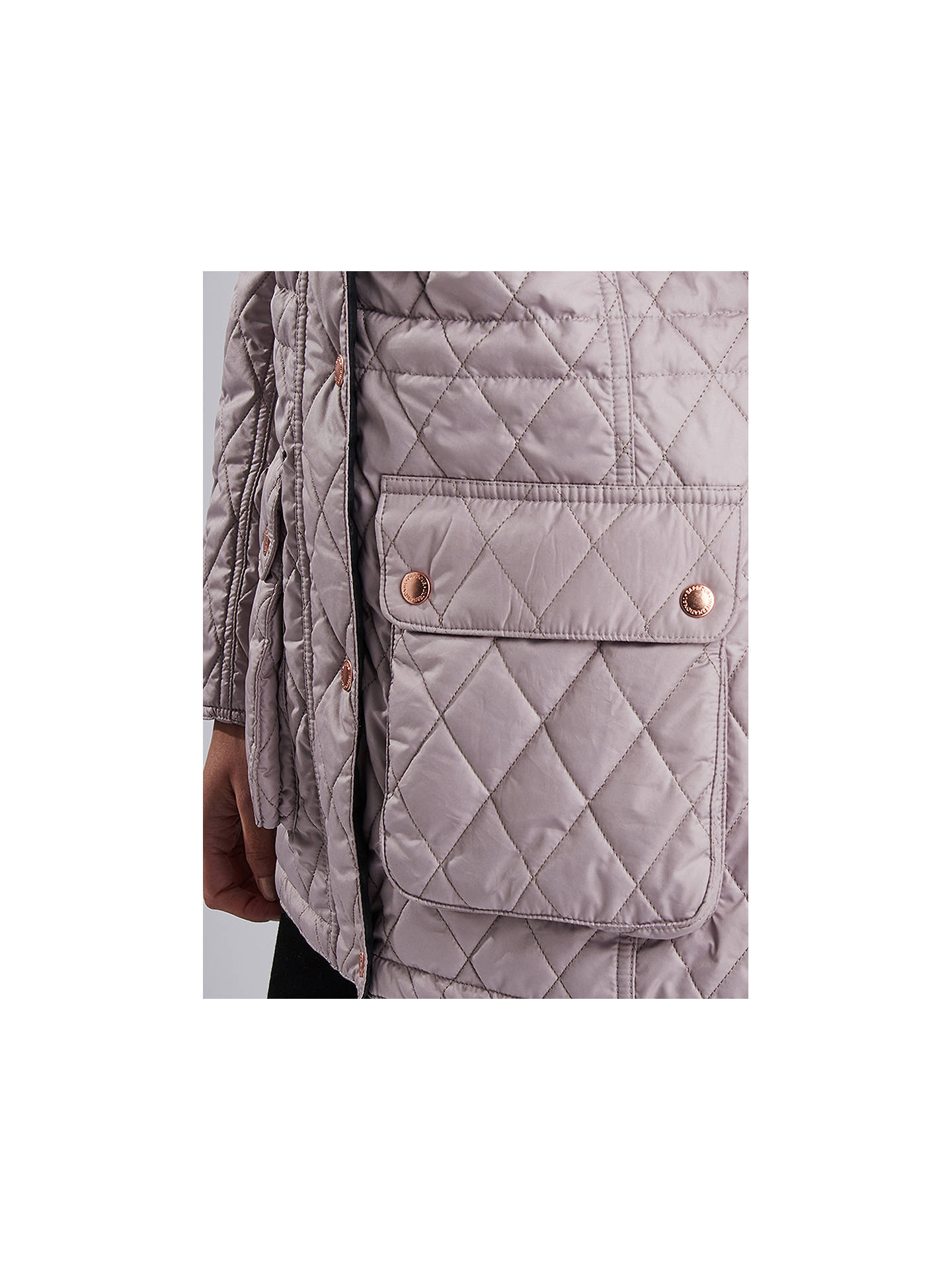 BuyBarbour International Enduro Quilted Hooded Jacket, Latte, 8 Online at johnlewis.com