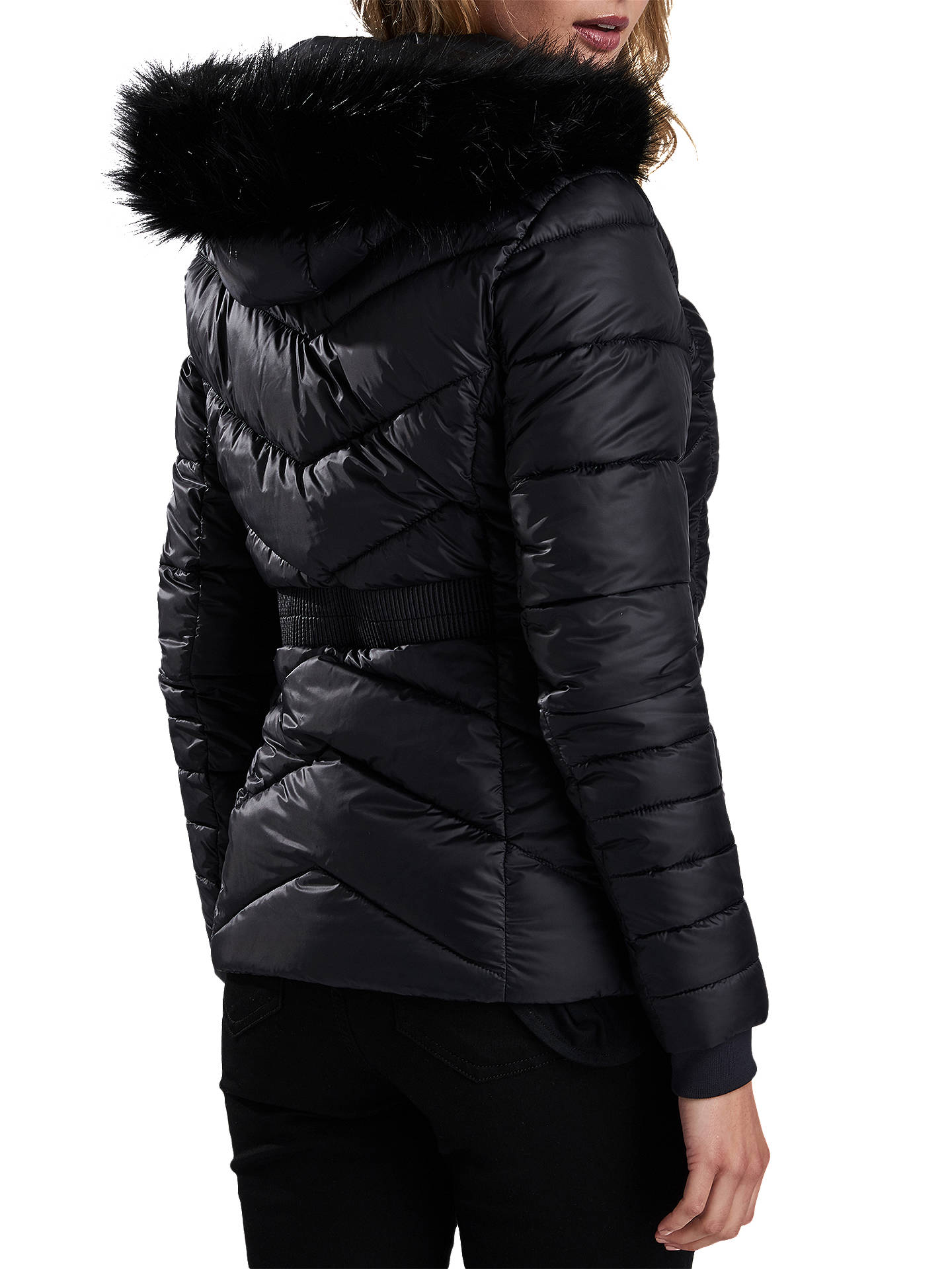 BuyBarbour International Turbo Quilted Hooded Jacket, Black, 8 Online at johnlewis.com