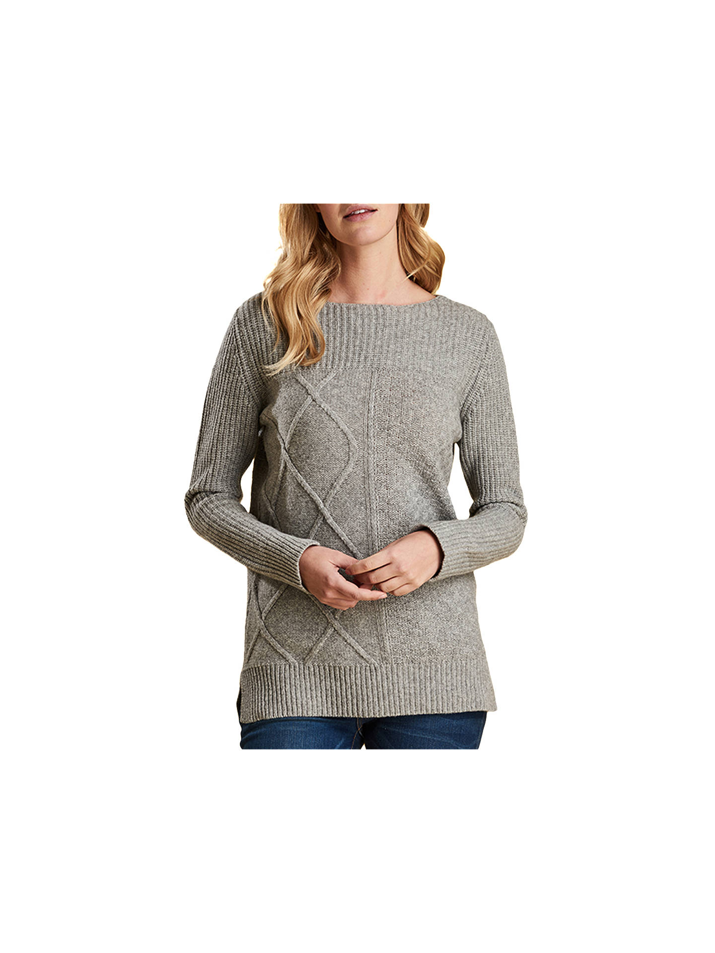 BuyBarbour Carlton Jumper, Light Grey Marl, 8 Online at johnlewis.com