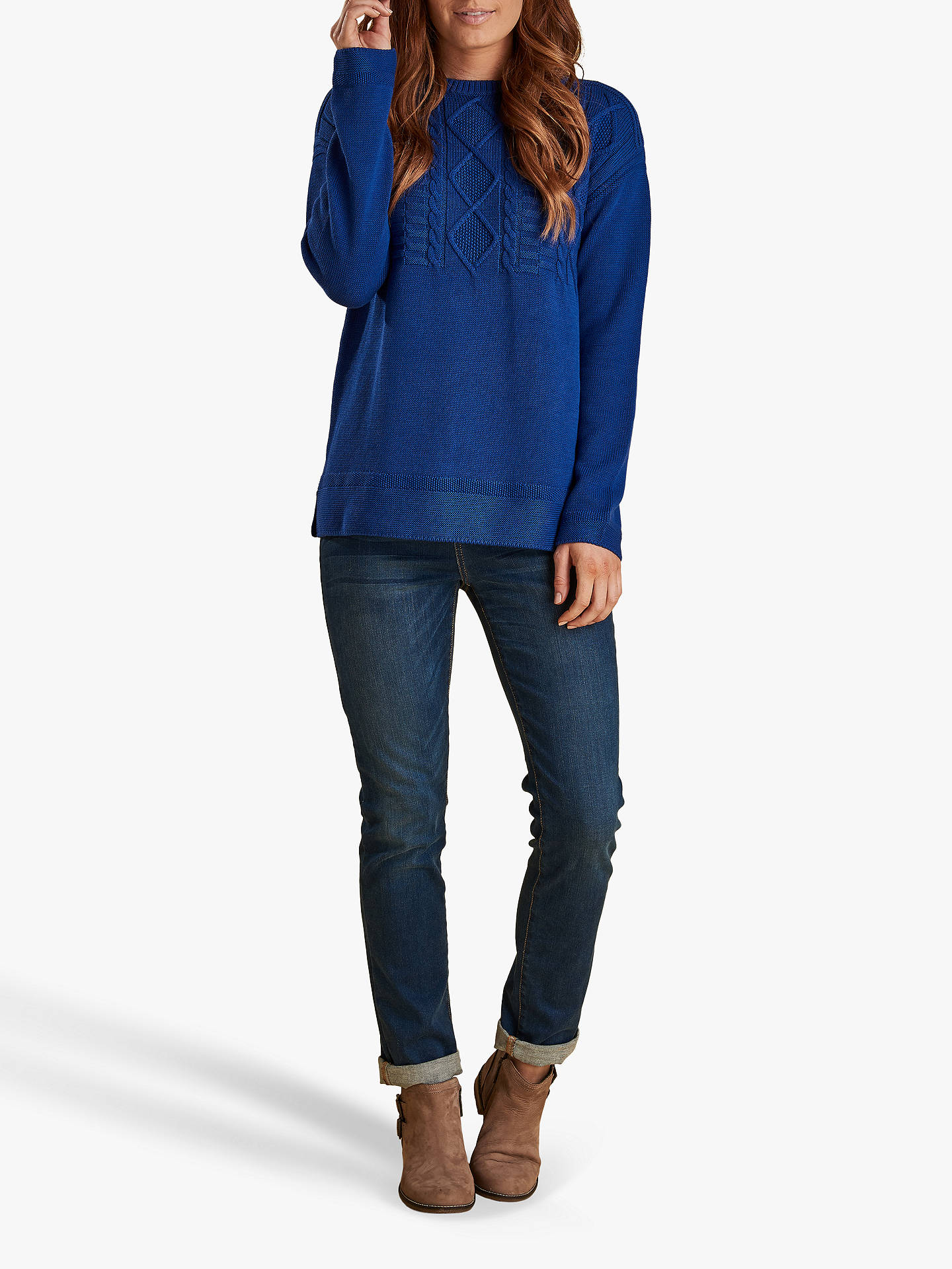 Buy Barbour Boscombe Jumper, Sea Blue, 8 Online at johnlewis.com