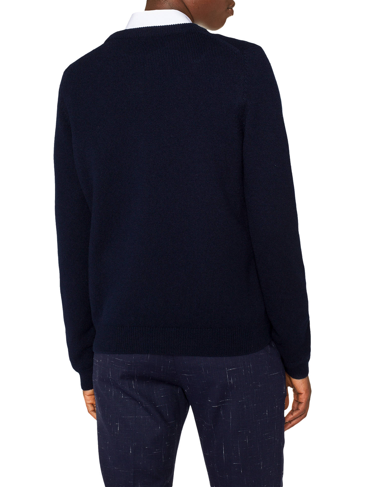 BuyPS Paul Smith Embroidered Rabbit Crew Neck Jumper, Navy, XS Online at johnlewis.com