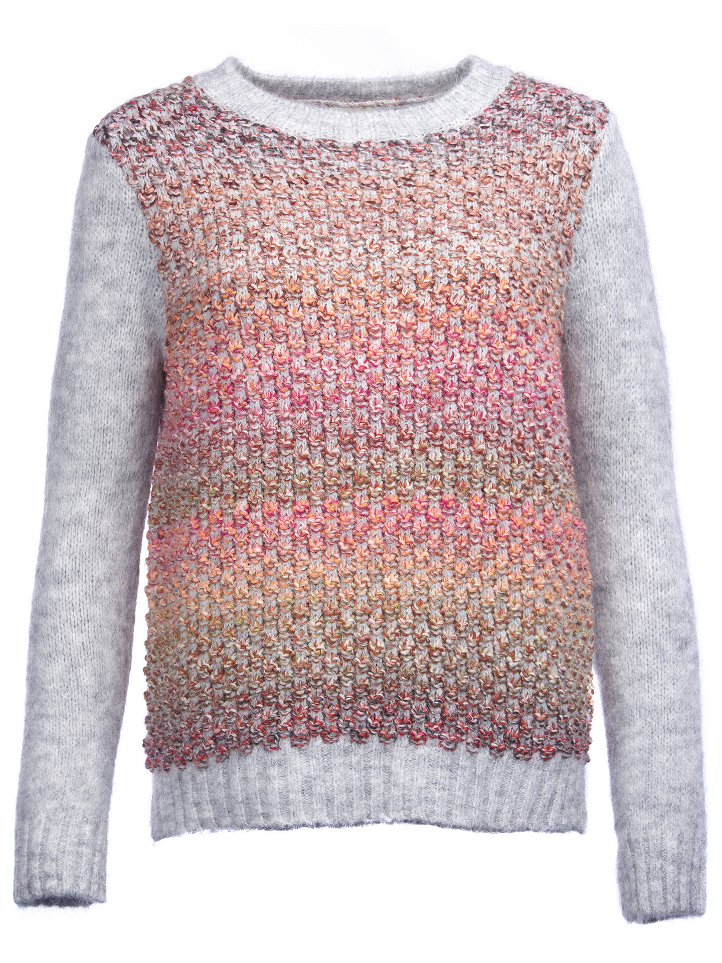 BuyBarbour Hamble Moss Stitch Jumper, Light Grey Marl, 8 Online at johnlewis.com