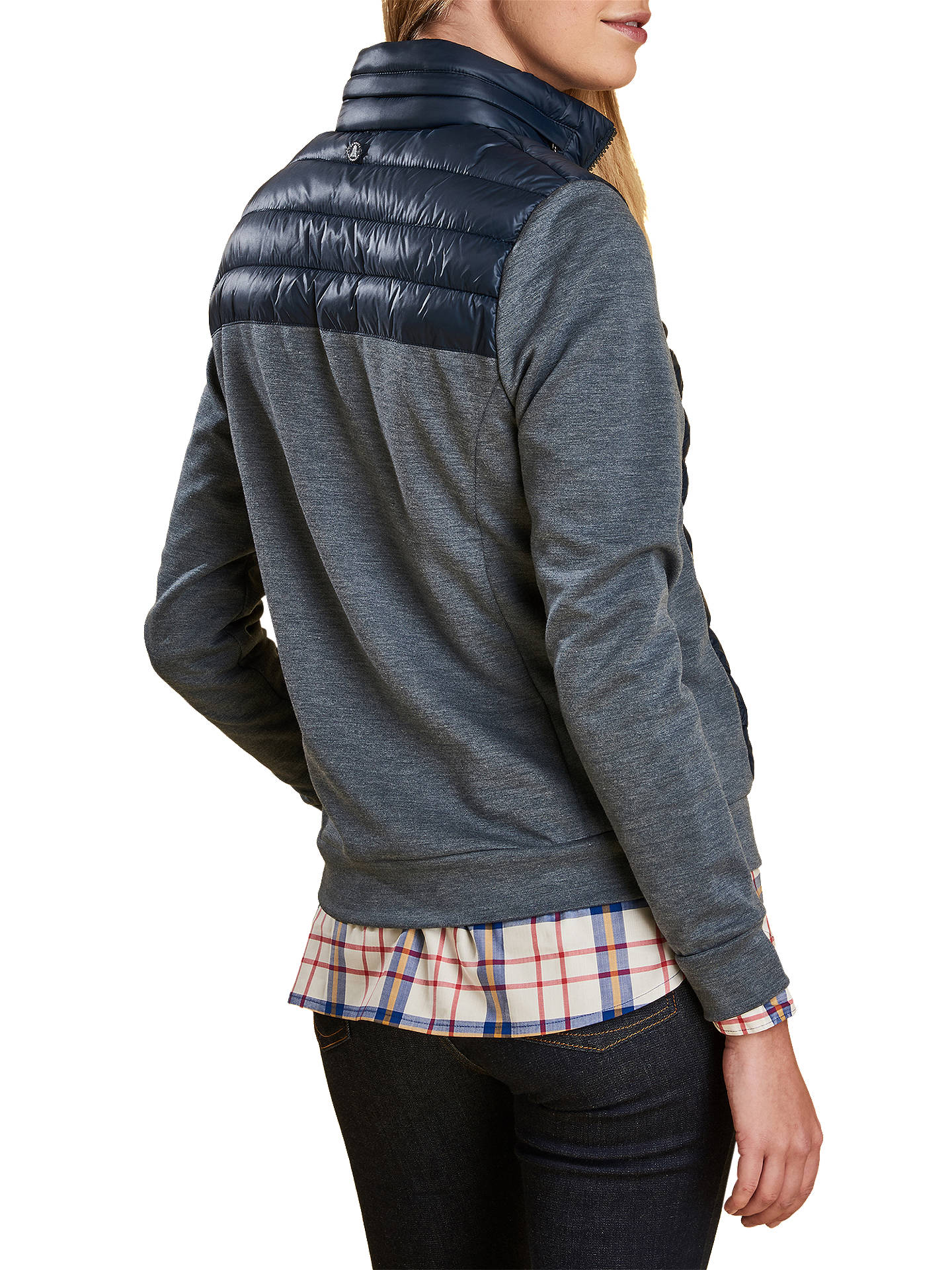 BuyBarbour Exmouth Zip Through Quilt Top, Navy, 8 Online at johnlewis.com