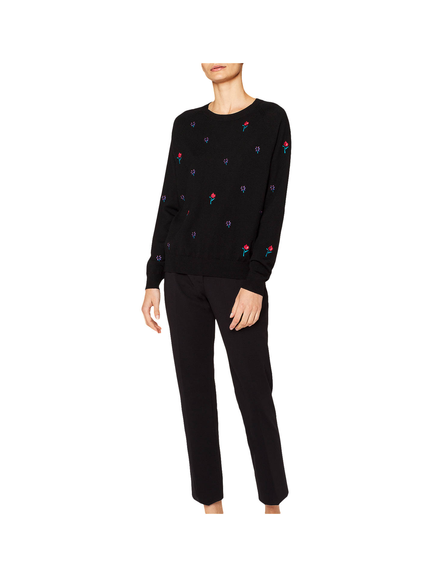 BuyPS Paul Smith Embroidered Knit Jumper, Black, XS Online at johnlewis.com