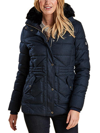 Buy Barbour Langstone Quilted Jacket, Navy, 8 Online at johnlewis.com
