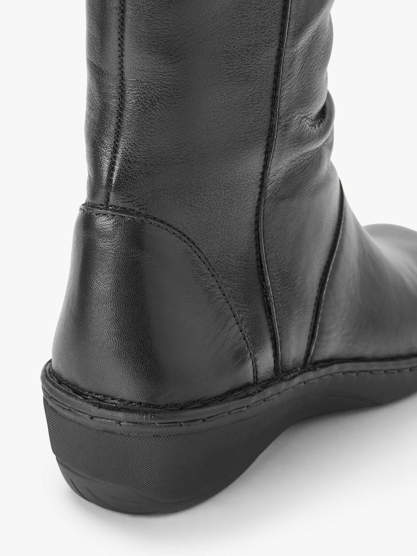 BuyJohn Lewis & Partners Designed for Comfort Rook Knee Boots, Black Leather, 6 Online at johnlewis.com